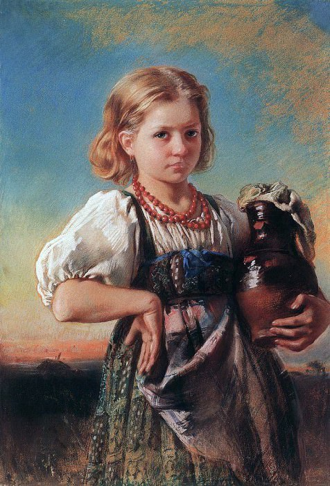 Girl with a jug. Konstantin Makovsky