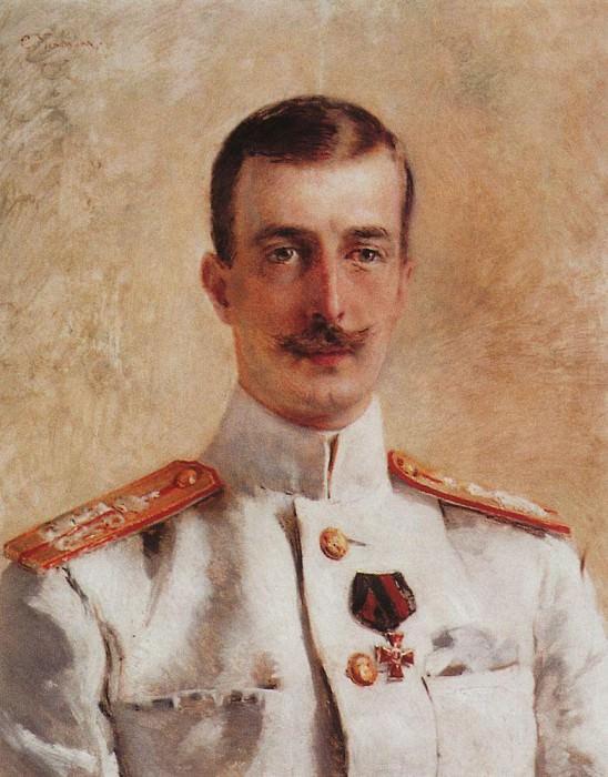 Portrait of Grand Duke Kirill Vladimirovich, the eldest son of Grand Duke Vladimir Alexandrovich, brother of Emperor Alexander III. Konstantin Makovsky
