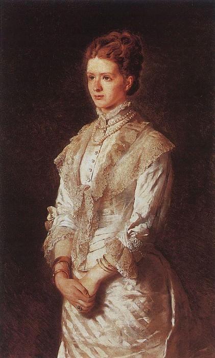 Портрет девушки в белом платье. Константин Егорович Маковский