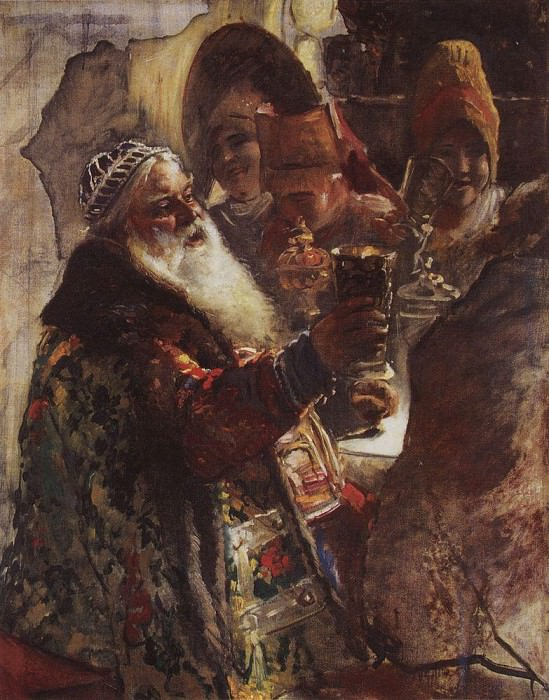 Боярин с кубком. Константин Егорович Маковский