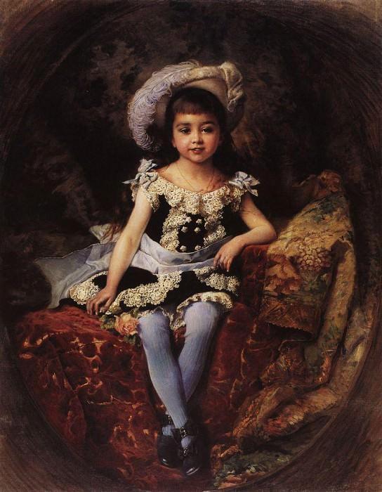 Child portrait. Konstantin Makovsky