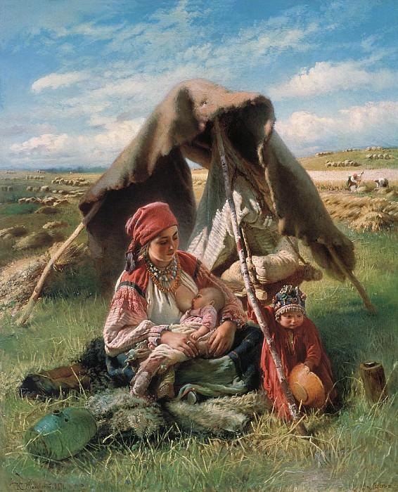 Жница. 1871. Холст, масло. Konstantin Makovsky