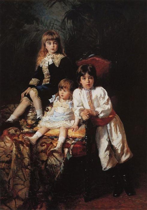 Children of Mr. Balashov. Konstantin Makovsky