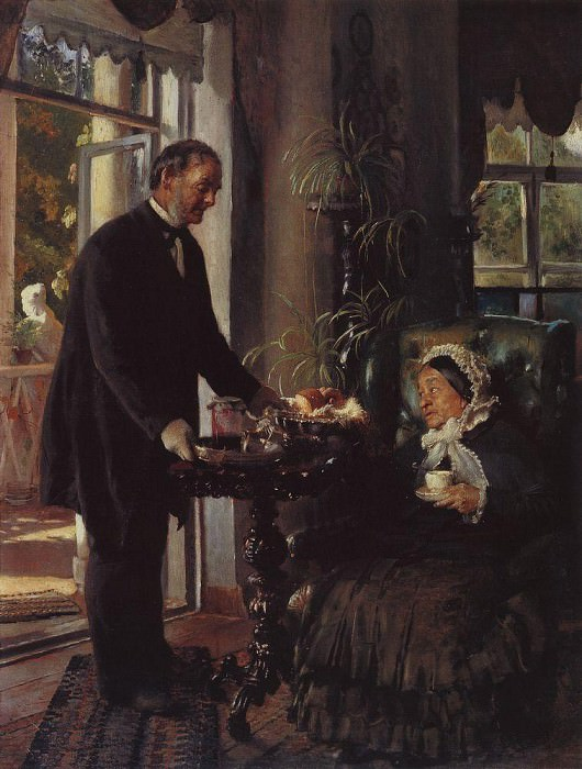 The landlord. L.V. Tarnovskaya in his estate Kachanovka. Konstantin Makovsky