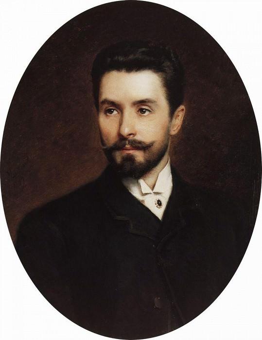 N. Fitner, opera signer. Konstantin Makovsky