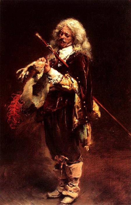 Chevalier wearing a glove. Konstantin Makovsky