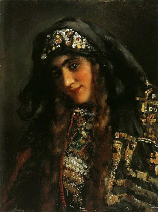 Девушка в восточном костюме. Константин Егорович Маковский