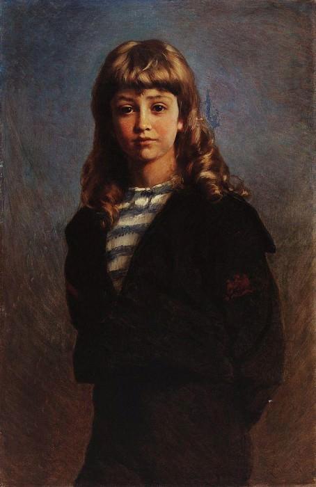 Seryozha (Portrait of son in a sailor suit). Konstantin Makovsky