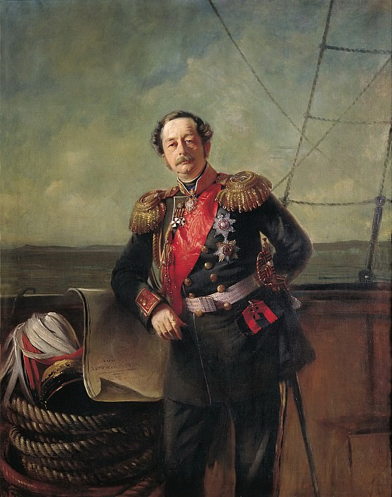 Портрет генерал-губернатора Восточной Сибири графа П.П.Муравьёв. Konstantin Makovsky
