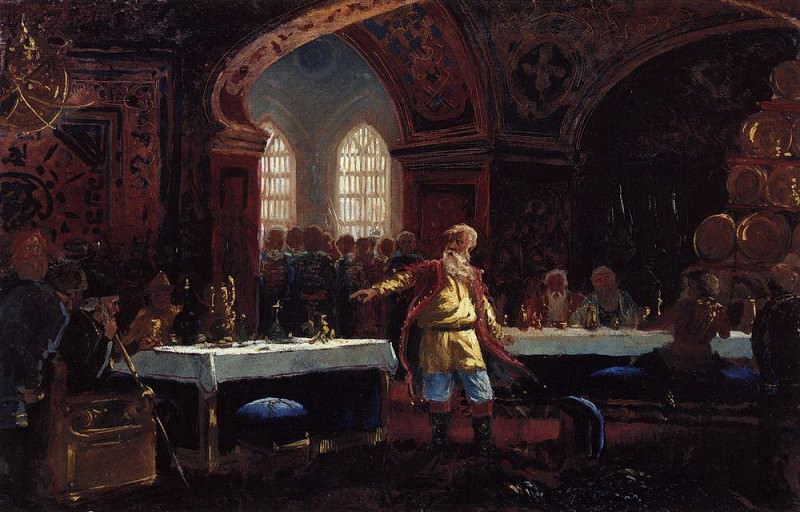 Prince Repnin at the feast at Ivan the Terrible. Konstantin Makovsky