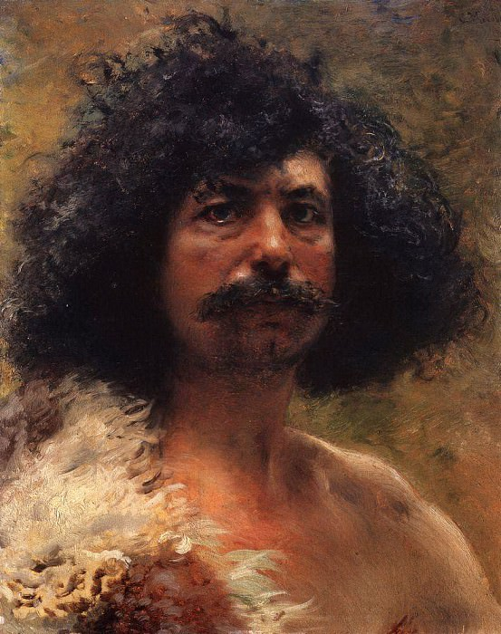 Male head. Konstantin Makovsky