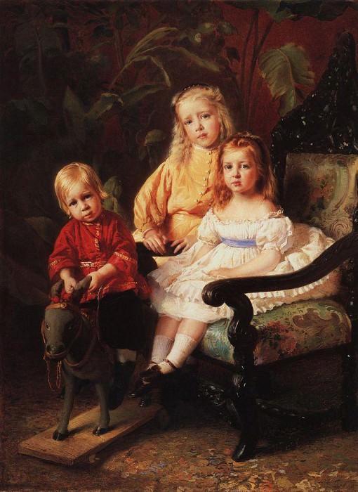 Портрет детей Стасовых. Константин Егорович Маковский