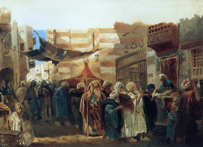 East funeral in Cairo. Konstantin Makovsky