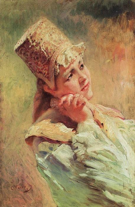 Боярышня. Константин Егорович Маковский