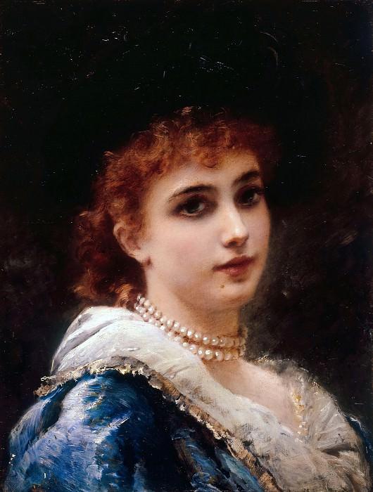 Парижская красавица в жемчугах. Константин Егорович Маковский