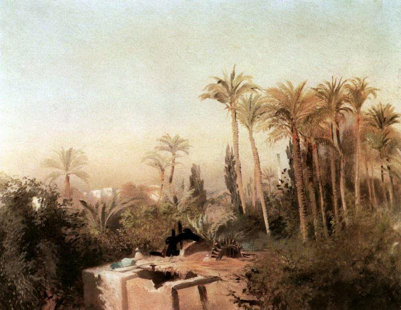 Irrigation system in Egypt. Konstantin Makovsky