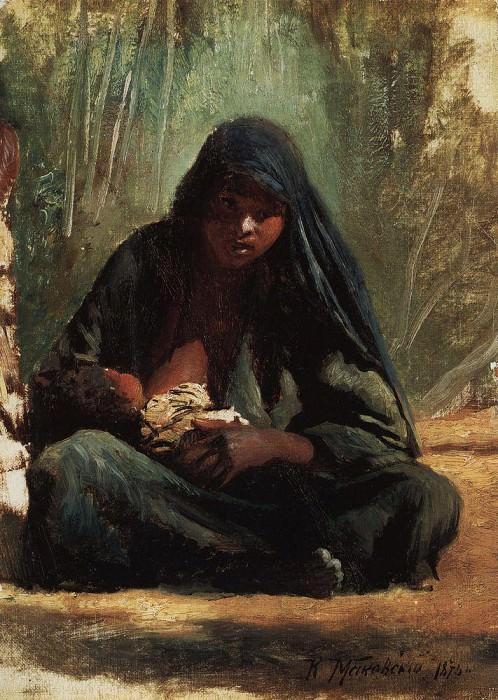 Египтянка с ребёнком. Константин Егорович Маковский