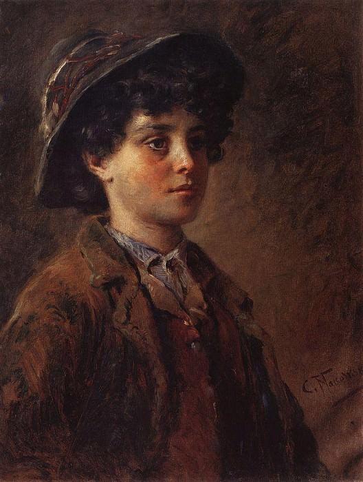Портрет итальянского мальчика. Константин Егорович Маковский