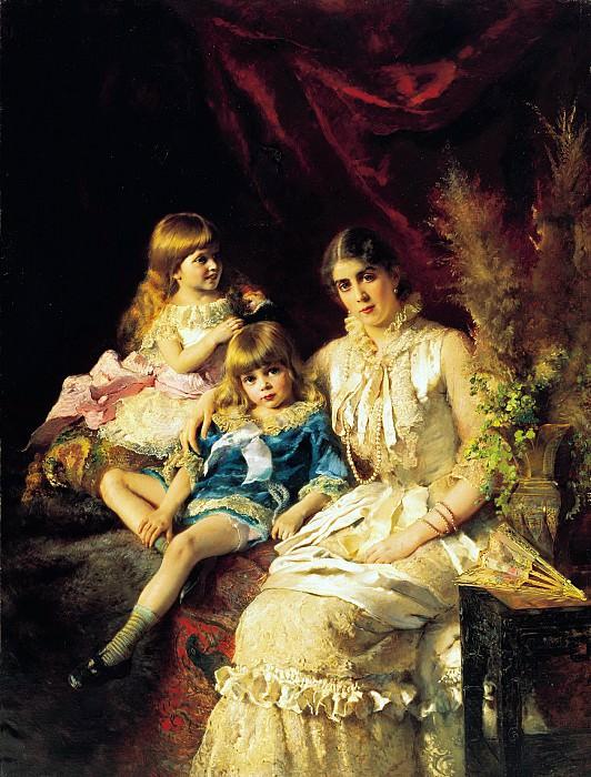 Семейный портрет. 1882. Холст, масло. 183х139 см. Konstantin Makovsky