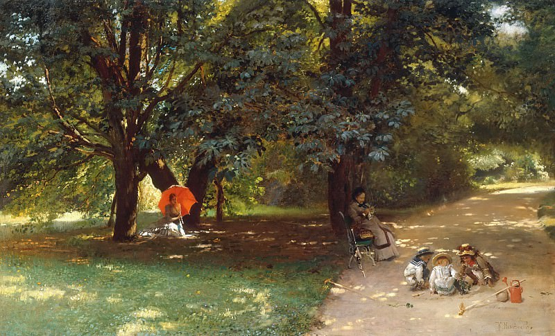 In the Park. Konstantin Makovsky