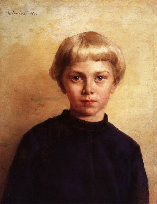 Portrait of a boy. Konstantin Makovsky