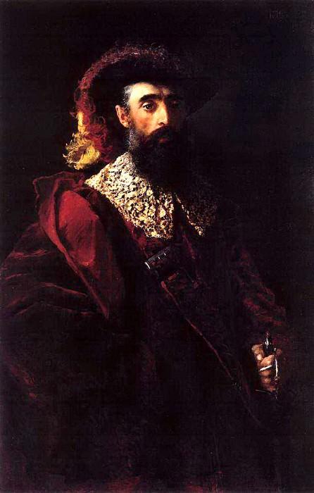 Портрет мужчины в красном бархатном костюме. Константин Егорович Маковский