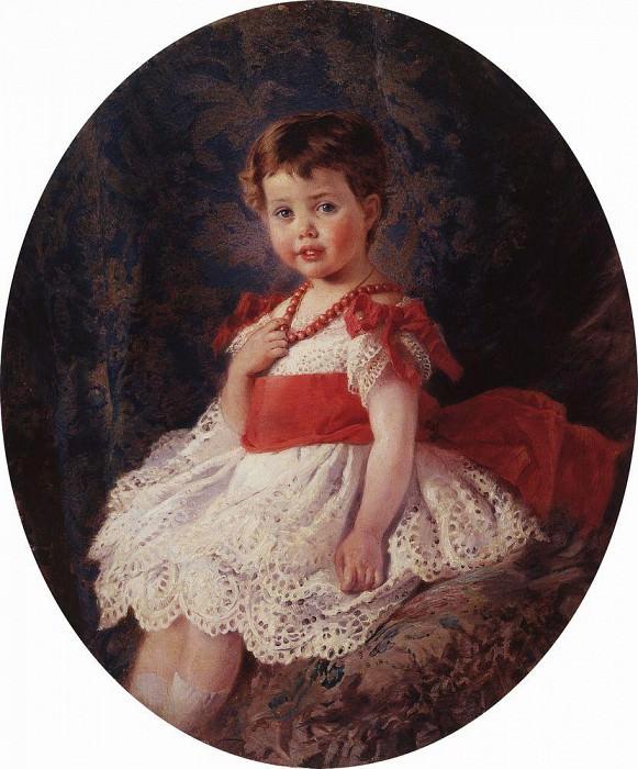 Portrait of a girl. Konstantin Makovsky