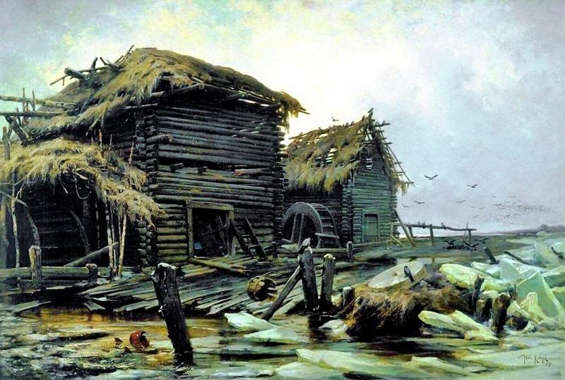 Заброшенная мельница 1890. Юлий Клевер