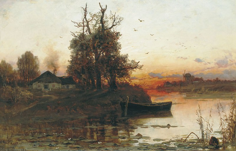 ЮЛИЙ КЛЕВЕР Вечерняя тишина 1894. Yuly Klever