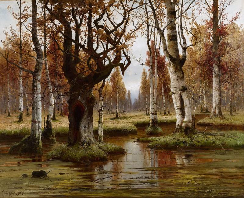 Берёзовая роща - Birkenwald. 1883. Yuly Klever