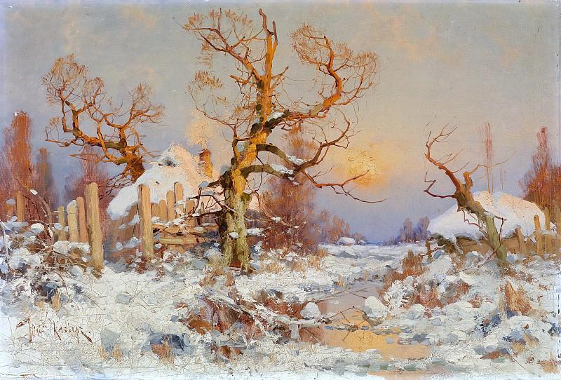Зимний пейзаж в лучах вечернего солнца - Winter Landscape in the Evening Sun. Yuly Klever