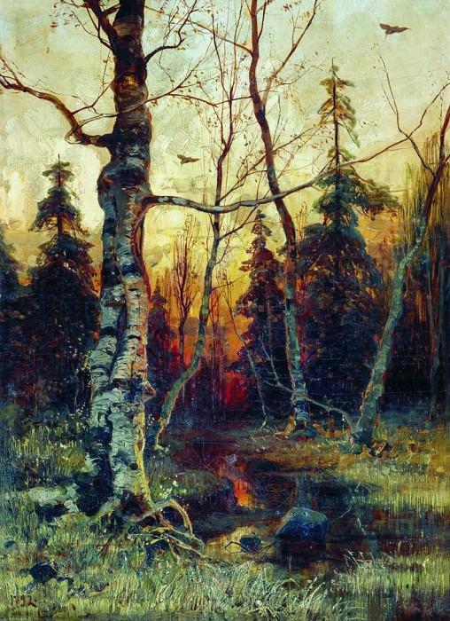 Юлий КЛЕВЕР 1850 1924 Пейзаж 1892 Холст масло. Yuly Klever