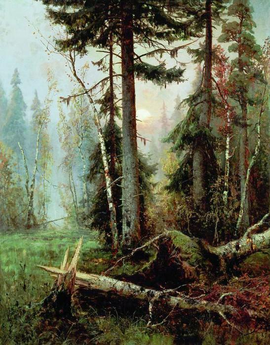 Юлий КЛЕВЕР 1850 1924 Дебри Холст масло. Yuly Klever