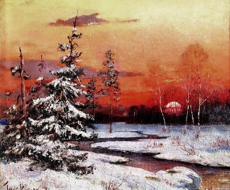 Зимний пейзаж. Yuly Klever