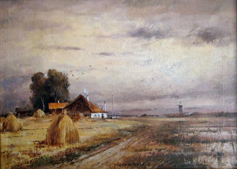 Осенний пейзаж - Autumn Landscape. (1905). Yuly Klever