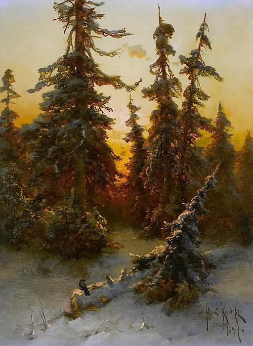 Последнее Солнечные лучи - The Last Sunrays 1894. Юлий Клевер