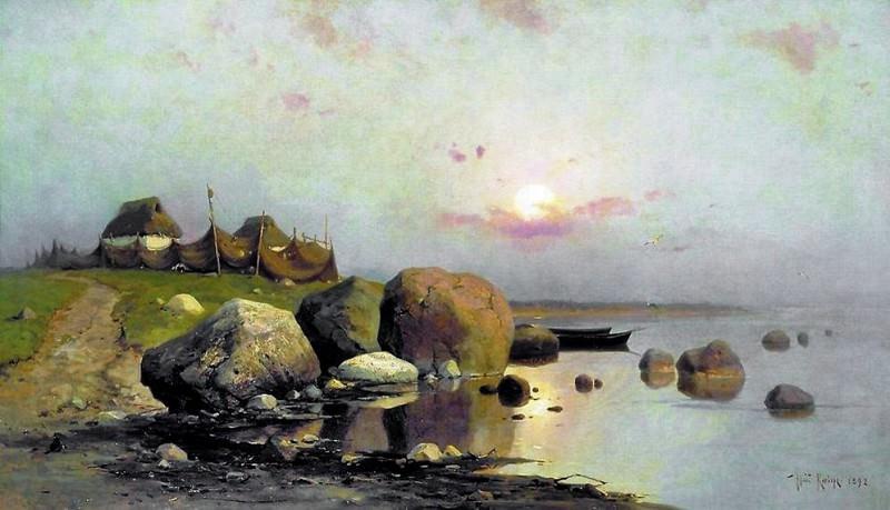 Рыбацкая деревня. Yuly Klever