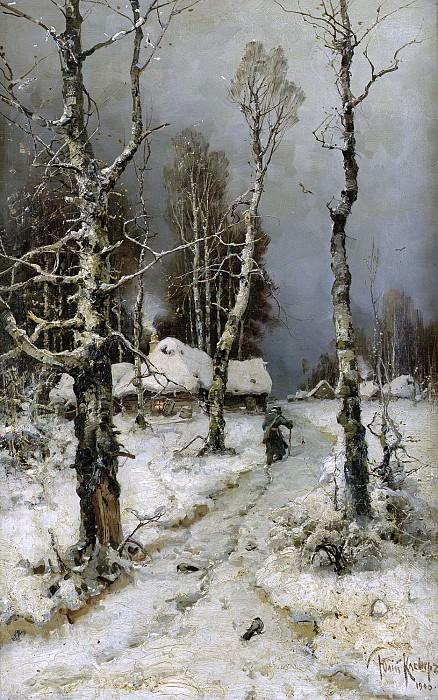 Возвращение - Heimkehr im Winter 1903. Yuly Klever