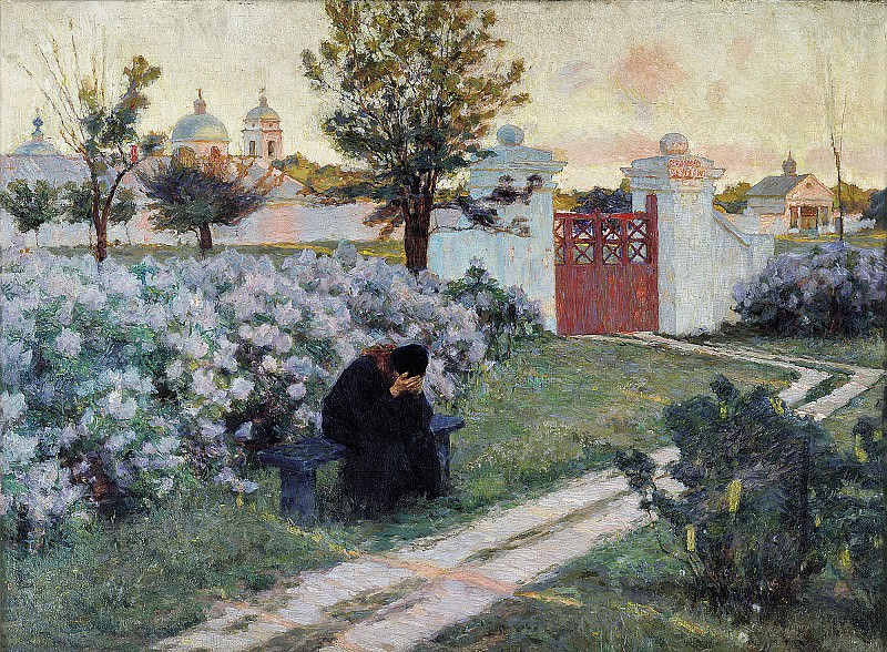 Цветущая сирень. 1902, дерево, масло, 70,5х93 см. Kiriak Kostandi