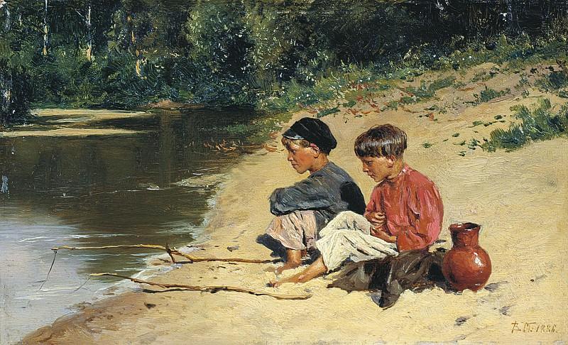 Рыбачки 1886 Холст масло. Vladimir Makovsky