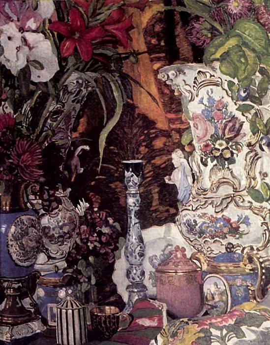 Цветы и фарфор. 1927. Alexander Golovin