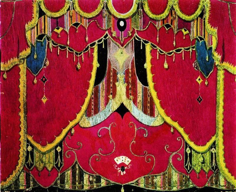 Главный занавес. Эскиз декорации к драме М.Ю. Лермонтова Маскарад. 1917. Alexander Golovin