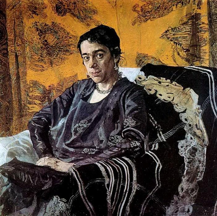 Портрет Н.Е.Добычиной. 1920. Александр Яковлевич Головин