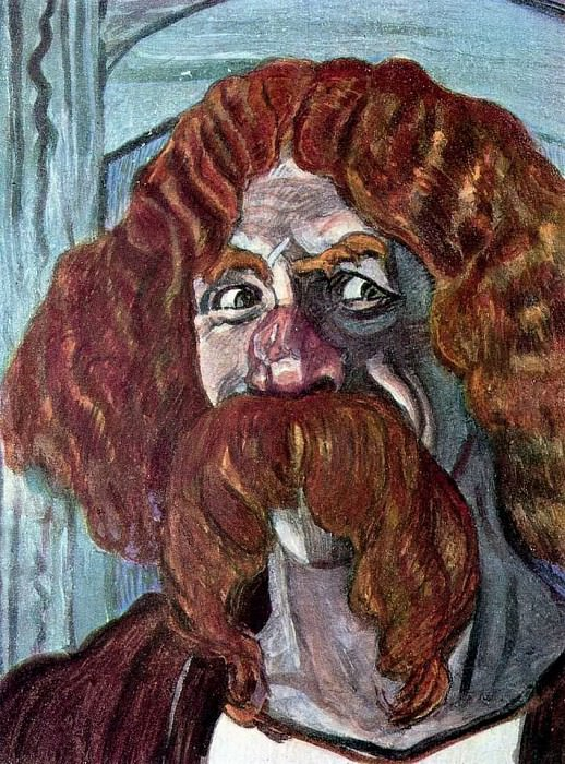 Портрет Ф.И.Шаляпина в роли Фарлафа. 1907. Александр Яковлевич Головин