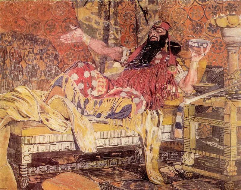 Портрет Ф. И. Шаляпина в роли Олоферна. 1908. Alexander Golovin