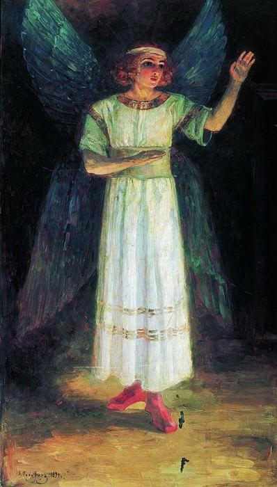 Благовещение. Створки царских врат. Архангел Гавриил. 1894. Александр Яковлевич Головин