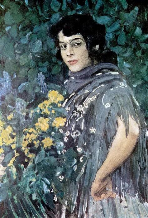 Испанка с букетом желтых цветов. 1907. Александр Яковлевич Головин