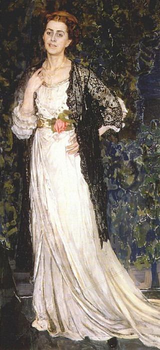 portrait of marina makovskaya 1912. Alexander Golovin