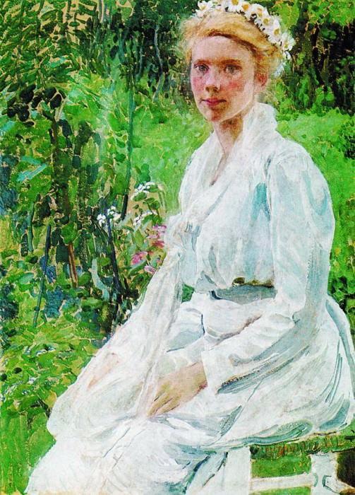 Финская девушка. 1908. Alexander Golovin