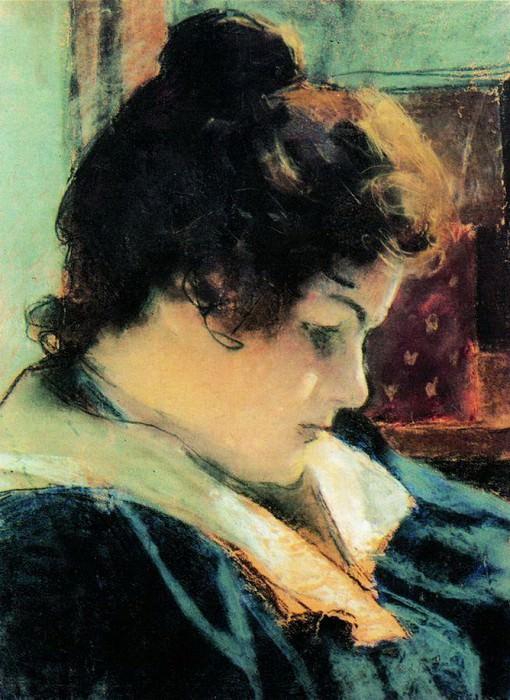 Портрет Марии Константиновны Головиной, жены художника. 1898. Alexander Golovin
